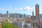 Hong Kong downtown with crowded buildings — Stock Photo