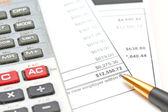Accounting and charts — Stock Photo