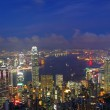 Office buildings in Hong Kong at night — Stock Photo #6248468