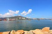 Coastal landscape in Hong Kong at daytime — Stock Photo