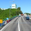 Highway in Hong Kong at day with moving cars — Stock Photo #6289634