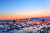 Sunset along the coast in Hong Kong — Stock Photo