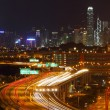 Traffic in Hong Kong at night — Lizenzfreies Foto