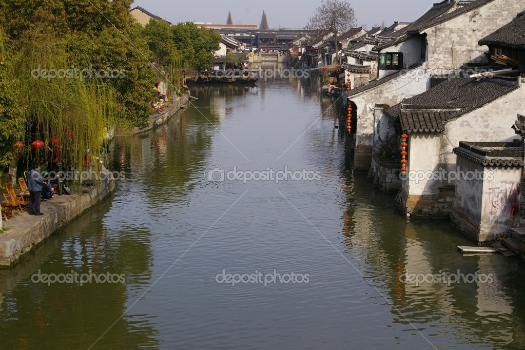 It is one of the six most famous water village in China. — Stock Photo #6377019