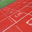 Running track with number 1-6 — Stockfoto