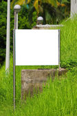 Blank billboard in countryside — Stock Photo