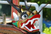 Dragon boat head in Chinese culture — Stock Photo