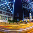 Busy traffic in city at night - Pearl of the East: Hong Kong. - Stok fotoğraf