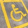 Royalty-Free Stock Photo: Disabled sign board on the way