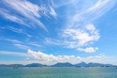 Paysage marin à hong kong à l'heure d'été — Photo