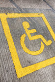 Disabled sign board on the way — Stock Photo