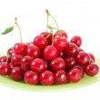 Cherries on the plate — Stock Photo