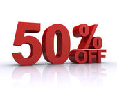 Fifty percent off discount — Stock Photo