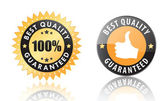 Best quality labels — Stock Vector