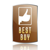 Best buy label — Vector de stock