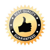 Best quality label — Stock Vector