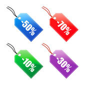 Price tags — Stock Vector