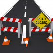 Stock Photo: Road closed