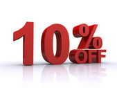 Ten percent off discount — Stock Photo
