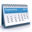 September 2011 calendar — Stock Photo