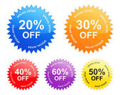 Sale labels (vector) — Stock Vector