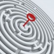 Key for maze - Stock Photo