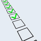 Grün-checkliste — Stockfoto