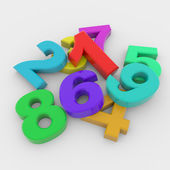 Colorful 3D numbers — Stock Photo