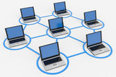 Computer network. — Stock Photo