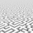 White infinity maze. - Stock Photo