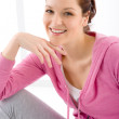 Stock Photo: Fitness happy woman sportive outfit
