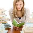 Student teenager woman read book — Stock Photo #5657577