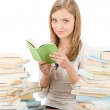 Student teenager woman read book — Stock Photo #5657582