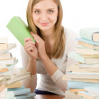 Student teenager woman with books — Stock Photo #5657586