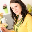 Portrait of young happy student at home — Stock Photo #5879407