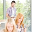 Group of young high school students learning — Stock Photo #5879560