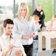 Portrait of student businesspeople in office — Stock Photo