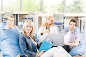 Portrait of high-school study group — Stock Photo