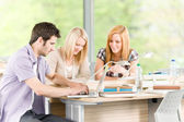 Group of young high school students learning — Stock Photo