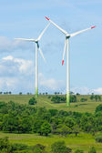 Green energy windmill generators ecology countryside — Stock Photo
