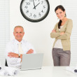 Professional architect behind office table — Stock Photo