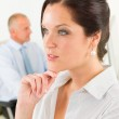 Professional businesswoman attractive thoughtful — Stock Photo