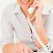 Professional businesswoman attractive on phone — Stock Photo