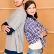 Home improvement young happy couple together — Stock Photo #6696092