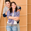 Home improvement young happy couple together — Stock Photo