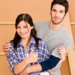 Home improvement young happy couple together — Foto Stock