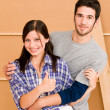 Home improvement young happy couple together — Foto de Stock