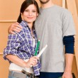 Home improvement young couple with repair tools — Stock Photo