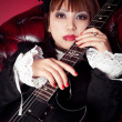Gothic Guitar Queen — Stock Photo #5424873