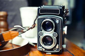 Old School TLR Camera — Stock Photo